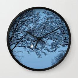 Morning Winter Moon Wall Clock