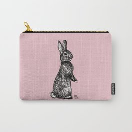 Pink Woodland Creatures - Bunny Carry-All Pouch