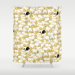 Find The Spy Pattern Shower Curtain