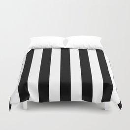Vertical Stripes (Black/White) Duvet Cover