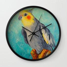Corella parrot Wall Clock