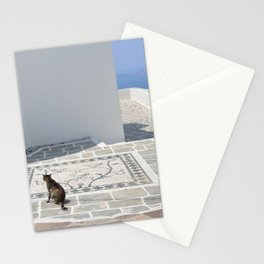 The Cat by The Aegean Sea on Milos Stationery Cards