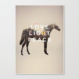 LOVE LIGHT PEACE Canvas Print
