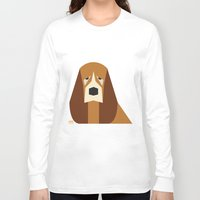 the hound Long Sleeve T-shirts featuring Basset Hound by Page 84 Design