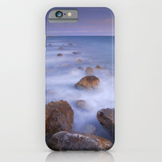 Blue sunset at the rocks iPhone & iPod Case