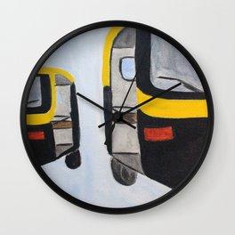 Rickshaws Wall Clock