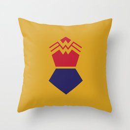 WonderWoman Alternative Minimalist Poster Throw Pillow