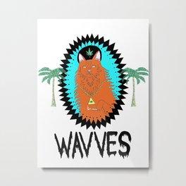 "WAVVES ""King Of Th Metal Print"