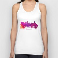 minneapolis Tank Tops featuring Minneapolis skyline purple by jbjart