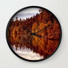 RADIANT AUTUMNAL REFLECTION Wall Clock