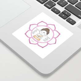 Cute little Buddha in a lotus flower Sticker