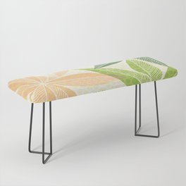 Modern Hawaiian Print IV / Contemporary Floral Bench