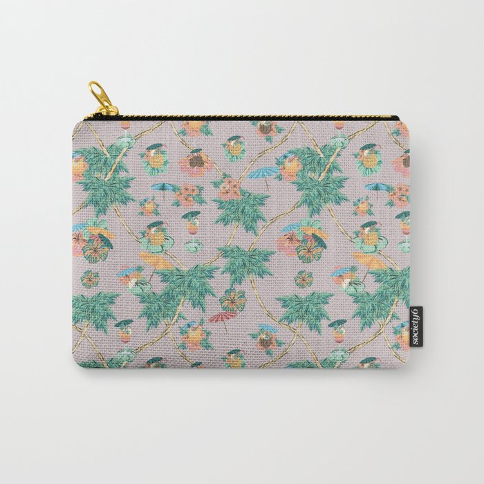 Dusty pink tropical drinks Carry-All Pouch