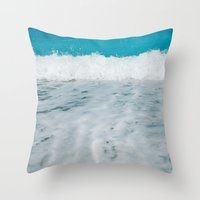 wave Throw Pillows featuring Wave by SensualPatterns