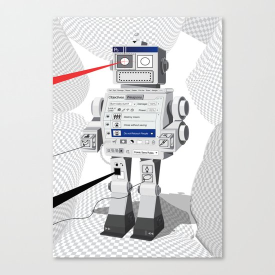 Photobot Canvas Print