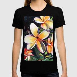Kauai Rainbow Plumeria T-shirt