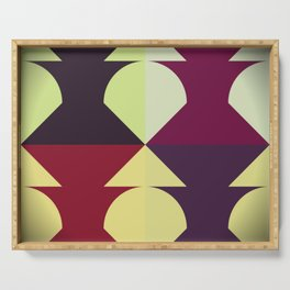 Funky Geometric Serving Tray