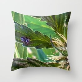 Guardian of the plants Throw Pillow