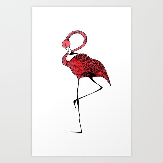 Mr. Flamingo Art Print