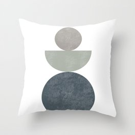Zen Stones 20105 Mid Century Art Throw Pillow
