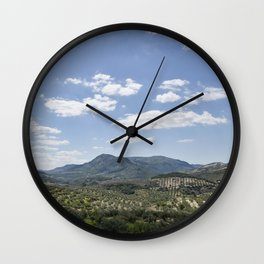 Mountains and Olive Trees Wall Clock