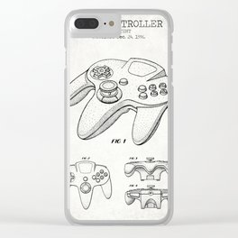 Game cotroller old canvas Clear iPhone Case