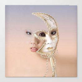 The mask of many moons Canvas Print