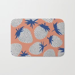 Inky Strawberries Bath Mat