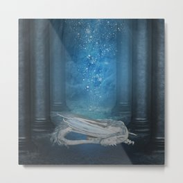 Awesome sleeping ice dragon Metal Print