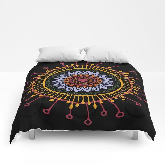 Mandala hand 1 Comforters