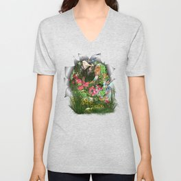 Fairy Kingdom Forest Dreamland Fantasy Stories Unisex V-Neck