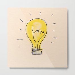 Love Light Metal Print