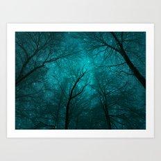 Simply Stare Upward (Dark Winter Sky) Art Print