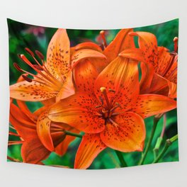 Orange Tiger Lilies - The Peace Collection Wall Tapestry