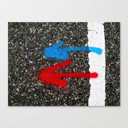 Road Marking Markings Canvas Print