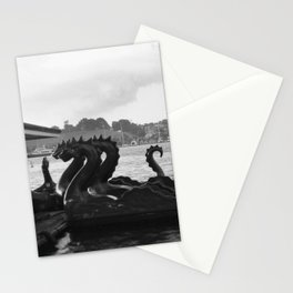dragons, waiting Stationery Cards
