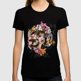 Tropical beauty. Fashion illustration T-shirt