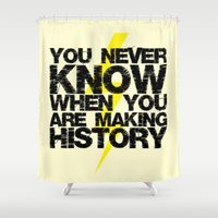 history Shower Curtains featuring HISTORY by Silvio Ledbetter