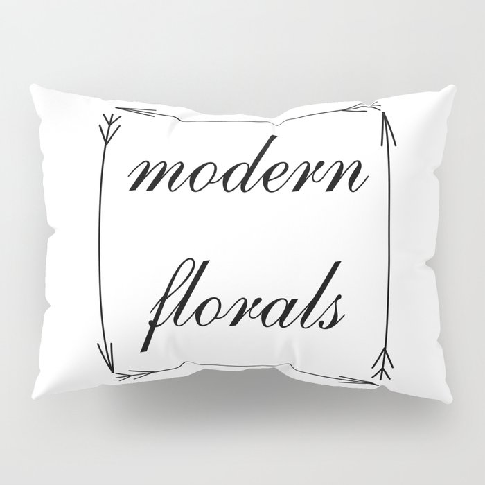 modern florals and arrows . Artwork / graphic Pillow Sham