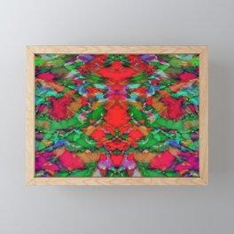 Interlocking ghosts red Framed Mini Art Print