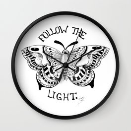 Like Moths to Flames Wall Clock