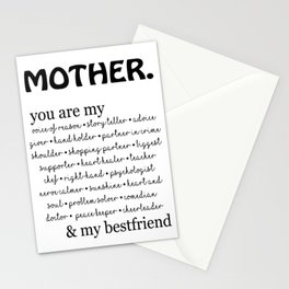 mother quotes Stationery Cards