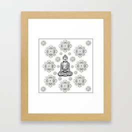 Buddha, HOME DECOR,with hand-painted Mandala Clouds,iPhone case,iPhone cover,iPhone skin,Laptop skin Framed Art Print