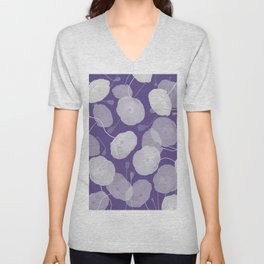 Ultra Violet Floral Abstract. Pantone Color of the Year 2018 Unisex V-Neck