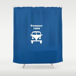Summer 1969 - blue Shower Curtain