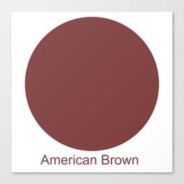 American Brown Canvas Print