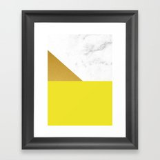 yellow marmor Framed Art Print