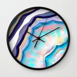 Rainbow agate Wall Clock