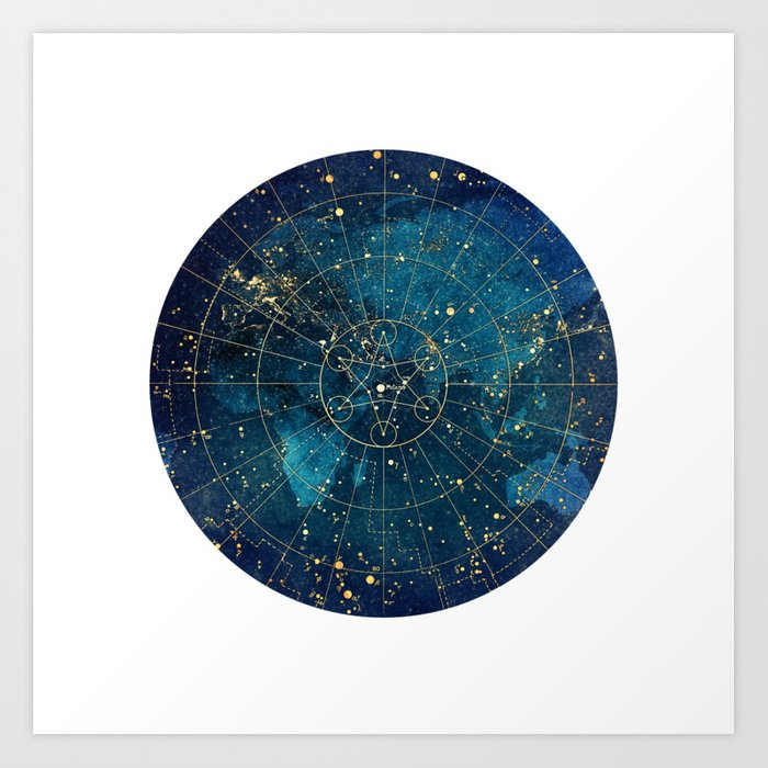 Star Map :: City Lights Kunstdrucke