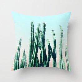 Green Cactus 10 Summer Throw Pillow